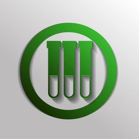 simbolo medicina: frasco símbolo bombilla química. Icono del símbolo de la medicina o la química. el estudio de la ciencia Vectores