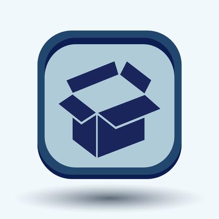 merchandize: Opened cardboard box  icon Illustration
