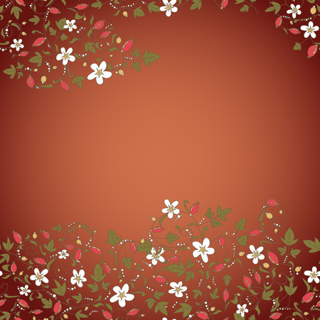 barberry: barberry pattern. seamless floral texture with berries