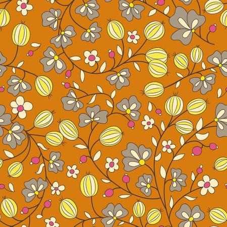 berry fruit: gooseberry seamless texture. vector pattern. seamless texture fills