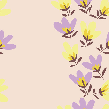 bud: Floral pattern. Spring or summer vector background. Hand-drawn doodle pattern with garden flower and bud. Illustration