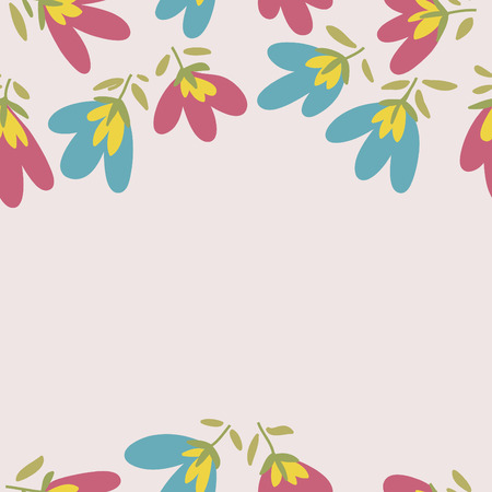 flower petals: Floral pattern. Spring or summer vector background. Hand-drawn doodle pattern with garden flower and bud. Illustration