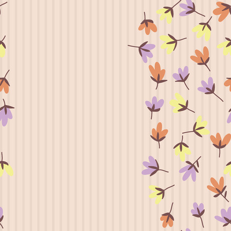 flower abstract: Floral pattern. Spring or summer vector background. Hand-drawn doodle pattern with garden flower and bud. Illustration