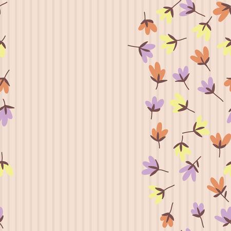 dessin fleur: motif floral. Printemps ou en �t�, vecteur, fond. motif de griffonnage tir� par la main avec des fleurs de jardin et le bourgeon.