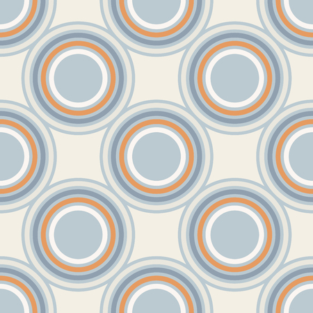 la geometría vector patrón. ornamento sin fisuras círculo con formas redondas. Ilustración de vector