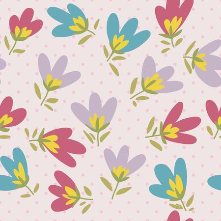 jardines con flores: Patr�n floral. Primavera o el verano de vectores de fondo. patr�n del doodle dibujado a mano con flores de jard�n y de ra�z.