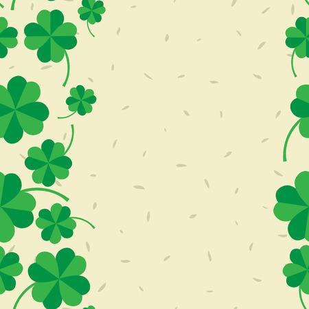 four leafed: St Patric day pattern. Green clover leafs seamless vector pattern.