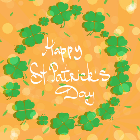 patric day: St Patric day pattern. Green clover leafs seamless vector pattern.