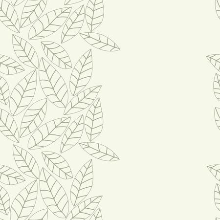 Blad bloemen vector patroon. Naadloze doodle textuur met bloemen. Gebruik als bureaubladachtergrond of oppervlaktestructuren, webpagina achtergrond, textiel en andere.