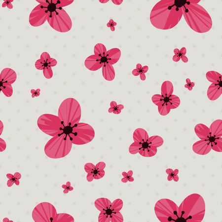 flower leaf: Floral vector pattern. Seamless doodle texture with flowers. Use as desktop wallpaper or surface textures, web page background, textile and other.
