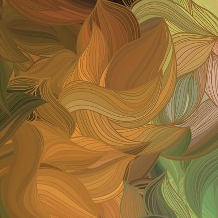 Vector abstract forme d'onde dessinée à la main.