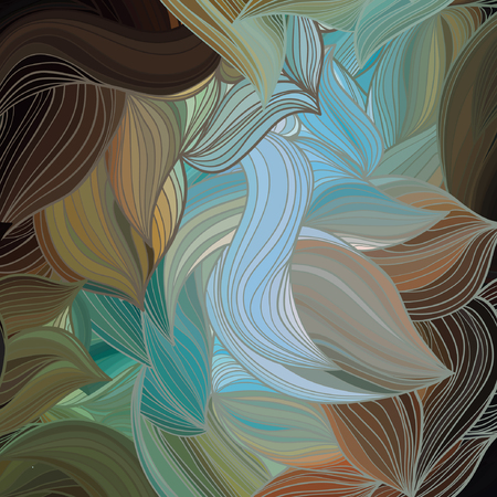 Vector abstract hand-drawn wave pattern.