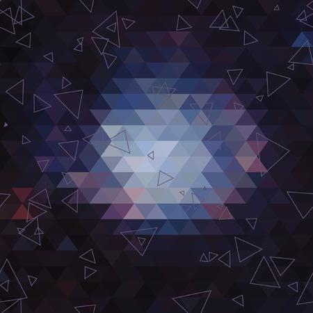 Geometrische Dreieck abstrakten Hintergrund. nahtlose Muster