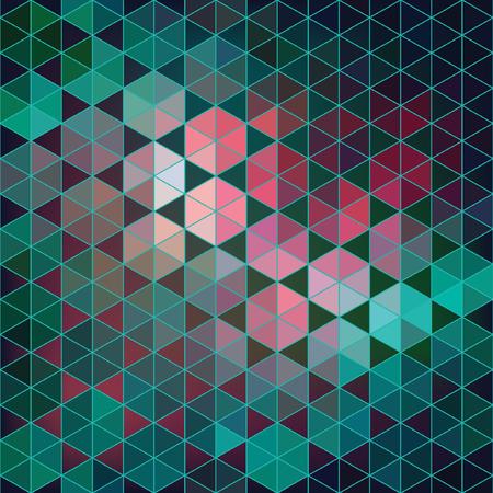 Geometric vector hexagon abstract background. Çizim