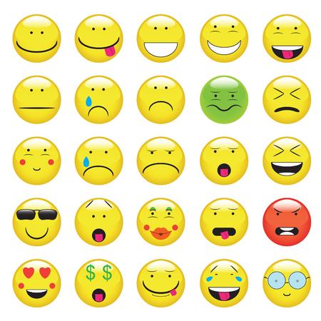emoji. émoticônes sourire icon set. isolé illustration sur fond blanc