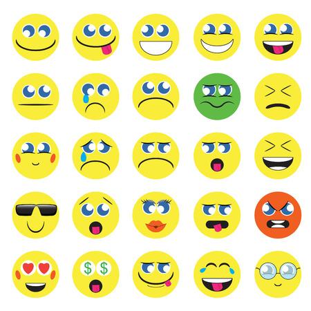 emoji. emoticons smile icon set. isolated vector illustration on white background