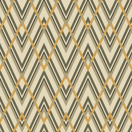 Geometric zigzag seamless pattern. Vector illustration. Illustration
