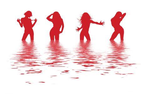 streaking: dancing women Stock Photo