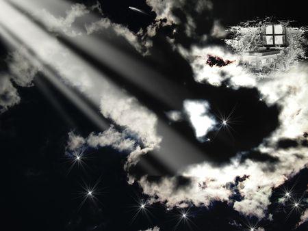 nightmarish: horrible sky