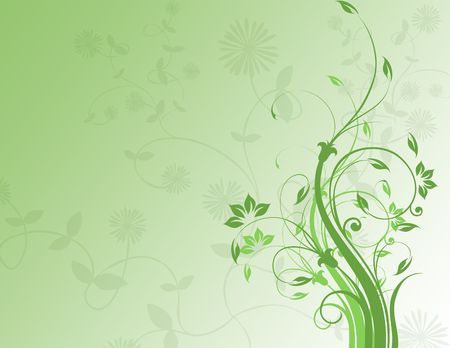 imaginative: floral background in green