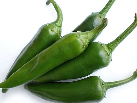 spicy peppers: green pepper
