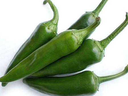 pimientos: pimiento verde