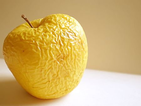 rotten fruit: old apple