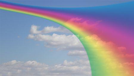 clody: clody sky with rainbow