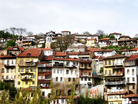 arial views: city view, Bulgaria     Stock Photo