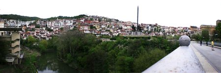 arial views: city view panorama, Bulgaria