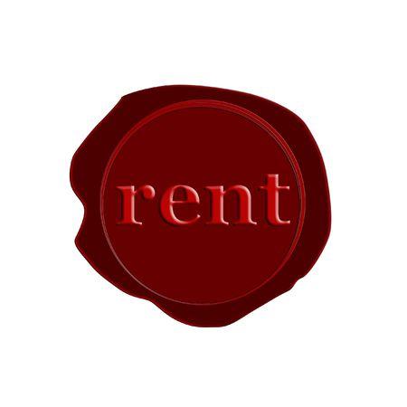 stamp rent Stock Photo - 3212492