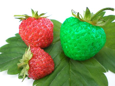 unique strawberry photo