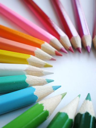 color�: crayons de couleurs  Banque d'images
