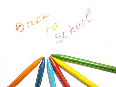 colorful crayons, back to school concept photo
