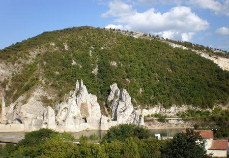 sculptures in rock    photo