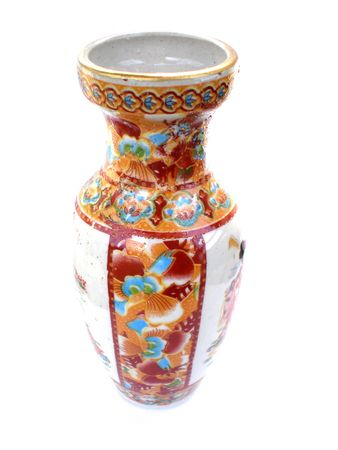 Decorated colorful Antique Chinese Vase  photo