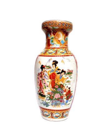 Decorated colorful Antique Chinese Vase