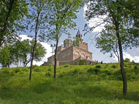 veliko: church in Tsarevets fortress Veliko Turnovo Bulgaria