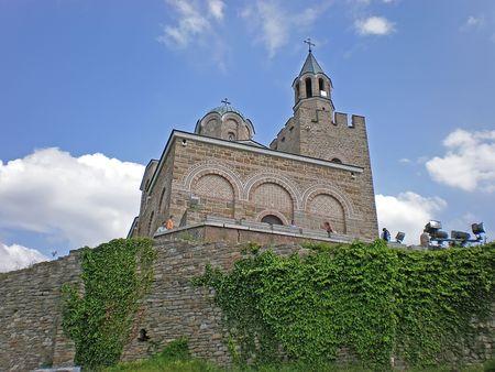 bulwark: church in Tsarevets fortress Veliko Turnovo Bulgaria