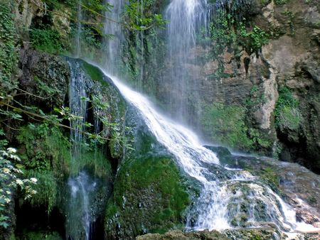 mountain waterfall near Krushuna Bulgaria photo