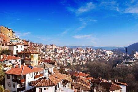veliko: city view with old houses Veliko Turnovo Bulgaria Stock Photo