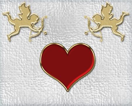 valentine's day golden cupids illustration Stock Illustration - 3991667