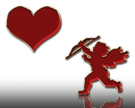 valentines day red cupid illustration illustration