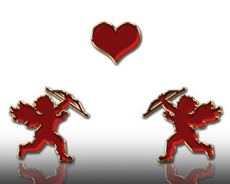 valentine's day red cupids illustration Stock Illustration - 3991662