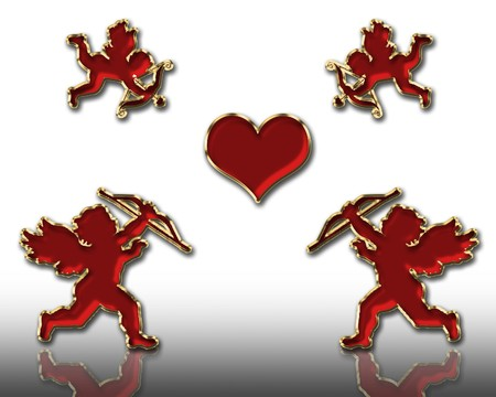 valentine's day red cupids illustration Stock Illustration - 3991664