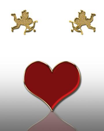valentines day golden cupids illustration illustration