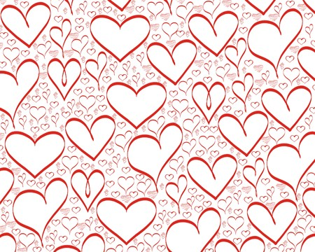 red hearts background for valentines day Stok Fotoğraf - 4037245