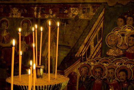 14th: Preobrajenski monasterio cerca de Veliko Turnovo Bulgaria (construido en el siglo 14 - se derrumb� a trav�s de la otomano - reconstruida en el siglo 19)
