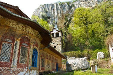 monasteries: Preobrajenski Monastery near Veliko Turnovo Bulgaria (built in 14th century - collapsed through the ottoman - rebuilt in 19th century)