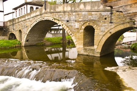 Tryavna - the bridge of sighes. old style historical city in North Bulgaria photo